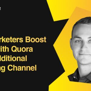 Boosting Traffic with Quora as an Additional Marketing Channel | JD Prater, Quora