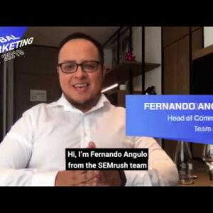 Fernando Angulo from SEMrush hosts Global Marketing Day