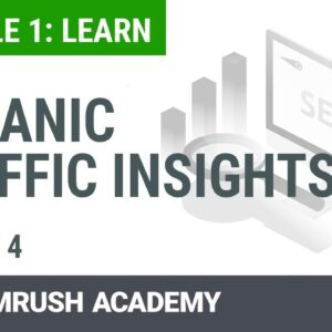 How to Use the Organic Traffic Insights | Lesson 4/14 | SEMrush Academy
