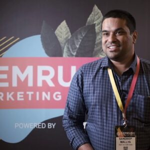 Sandeep Mallya interview about how he generates sales with SEMrush Affiliate Program | BeRush