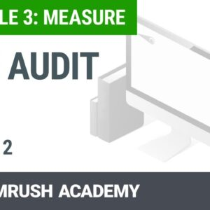 Module 3. Lesson 2. Site Audit