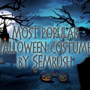 Most popular Halloween costumes 2018 by SEMrush
