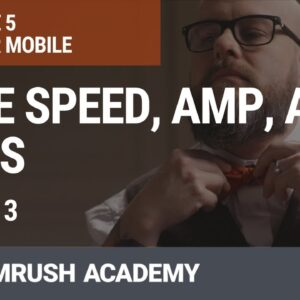 Page Speed, AMP, and PWAs | Lesson 24/31 | SEMrush Academy