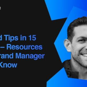 Resources Every Brand Manager Should Know | Liron Smadja, Fiverr