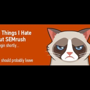 SEMrush Webinar About Our Competitor Analysis Software
