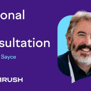 Personal SEO Consultation with David Sayce