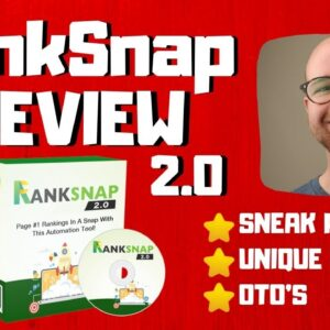 RankSnap 2.0 Review - Updated For Google's New Algorithm Change - 🤯HUGE BONUSES🤯
