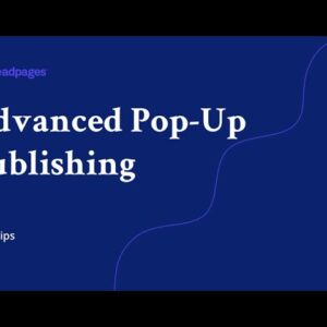 Advanced Pop-Up Publishing