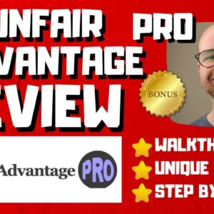 Unfair Advantage Pro Review - 🚫WAIT🚫DON'T BUY WITHOUT WATCHING THIS DEMO FIRST🔥