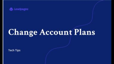 Changing your Account Plan