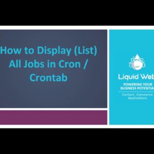 How To Display (list) All Jobs In Cron/Crontab