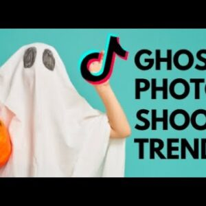 How to do the ghost photoshoot trend on TikTok- 3 easy steps + template