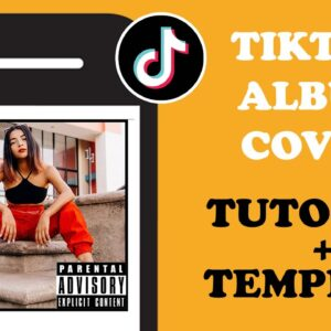 How to do the TikTok Album Cover challenge ( 3 easy steps + template)