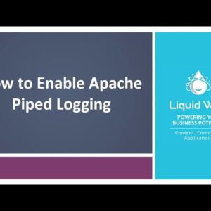 How to Enable Piped Logging in Apache