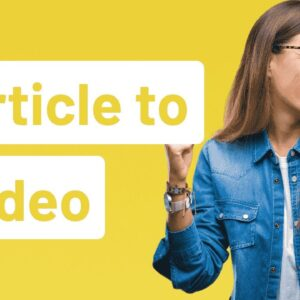 InVideo Tutorial: How To Convert An Article To Video