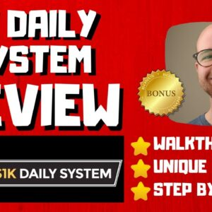 1K Daily System - 🚫WAIT🚫DON'T BUY 1K DAILY SYSTEM WITHOUT MY BONUSES 🔥