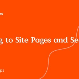 Linking to Site pages and sections