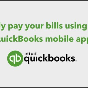 Pay your business bills using the QuickBooks mobile app