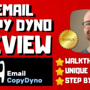 Email Copy Dyno Review - 🚫WAIT🚫DON'T BUY WITHOUT WATCHING THIS DEMO FIRST 🔥