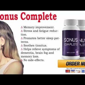 ✨ Sonus Complete Review 2021   Watch This Video Before You Buy Sonus Complete Supplement