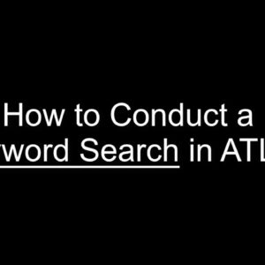 ATLAS Keyword Search