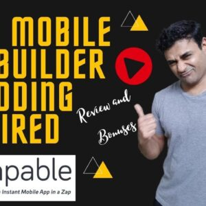 Easy Mobile App Builder No Coding Required 📱📱 Zapable Review ⚡⚡ Zapable Bonuses 🎁🎁