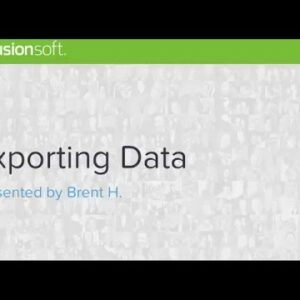 Contact Search: Exporting Data
