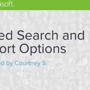 Contact Search: Saved Search Options