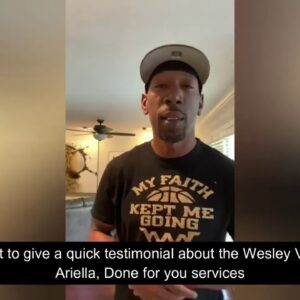 DONE FOR YOU SERVICES Testimonial - Wesley Virgin review