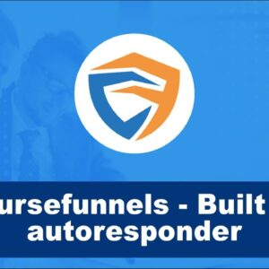 CourseFunnels has a built-in autoresponder & you can do all your marketing with it
