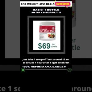 ⭐️Okinawa Flat Belly Tonic | Buy from Official Link | Get Best Discount | #shorts | #fatlosssecret 💪