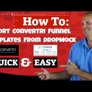 How To Import Convertri Funnel Templates From DropMock