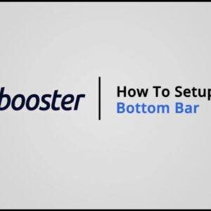 How to Setup a Bottom Bar on Shopify with Booster Theme V5