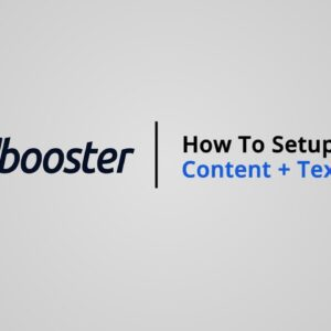 How to Setup Content + text on Shopify with Booster Theme V5
