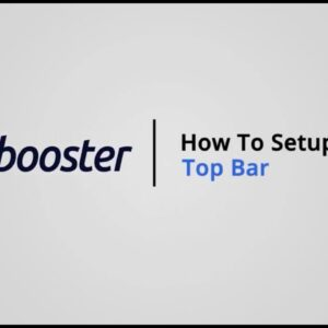 How to Setup Top Bar on Shopify with Booster Theme V5