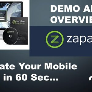 Zapable - Instant mobile app builder | Demo & Review | Zapable 2021 | Your Mobile app in just 60 sec