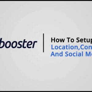How to Setup Location, Contact & Social media on Shopify with Booster Theme V5