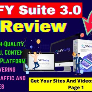 DFY Suite 3.0 Review + Bonuses | 100% Done-For-You Syndication And Ranking System For you & Clients