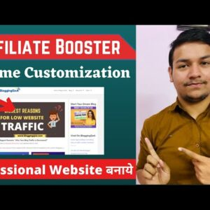 Affiliate Booster Theme Customization  Best Theme For Affiliate Marketers in Hindi