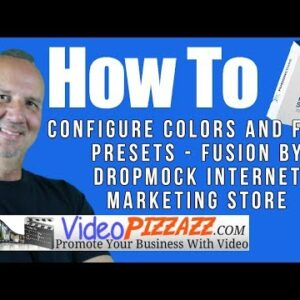 How To Configure Colors and Font Presets - Fusion by DropMock Internet Marketing Store
