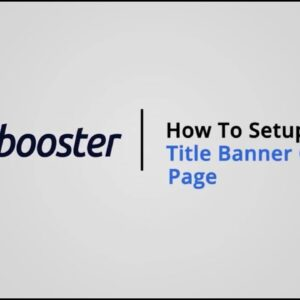 How to Setup Title Banner ( Collection Page ) on Shopify with Booster Theme V5