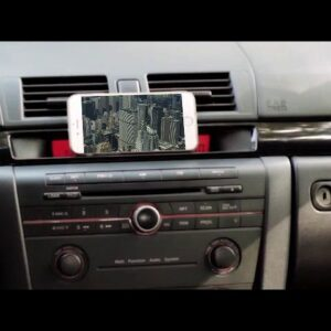 Cool Mockup using iPhone Smartphone Cell Phone while driving generated by DropMock