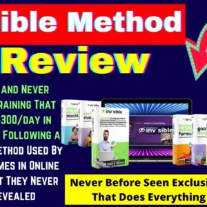 Invisible Method Review, Demo + Bonuses   Discover the Most Effective & Cheap Traffic Strategy-2021